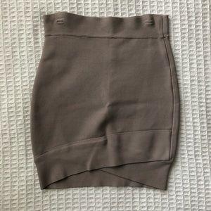 BCBG Max Azria sylvie criss cross skirt tan Small